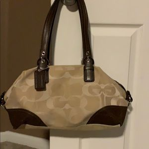 Coach purse brown and tan